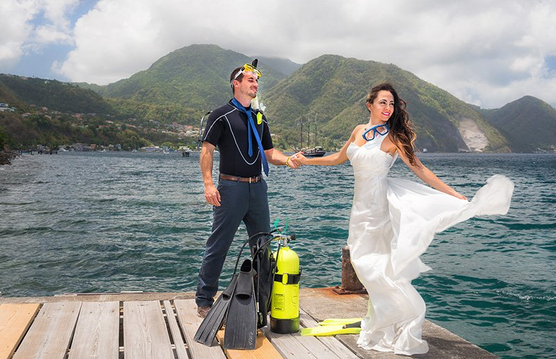 Divers' wedding can be fun!